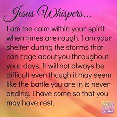Jesus whispered