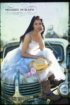 """""""For the longest time I have had a stylized photo shoot in my mind. I wanted to take my papa's old 1941 dodge truck and have a """"Fancy Farmgirl"""" photo day. The old truck used to be a Good Year Tire Tow Truck many a year ago, but sadly hasn't run in decades."""""""