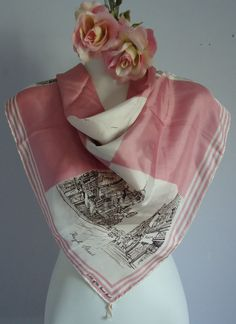 Vintage 1940s Thirkell of Old Bond Street Silk Scarf on Etsy, Sold