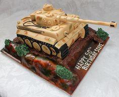 Army Birthday Cakes, Army's Birthday, Birthday Parties, Army Tank Cake, Fab Cakes, Tiger Tank, Fashion Cakes, Cakes For Boys, Creative Cakes