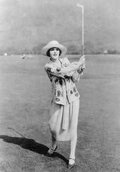 Mary Astor Playing golf