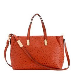 Women's ostrich print tote bag - EXILLE WINTER