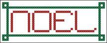 Free and Easy Christmas Cross Stitch Patterns: Noel Cross Stitch Pattern