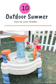10 Summer Outdoor Toys for Toddlers Looking for outdoor summer toys to keep your toddler entertained is summer? Check out the top 10 outdoor toys for toddlers here! Summer Fun For Kids, Summer Activities For Kids, Games For Kids, Outdoor Toys For Toddlers, Best Outdoor Toys, Outdoor Play, Backyard For Kids, Backyard Games, Backyard Ideas