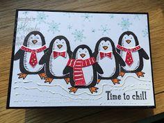 Stampin Up Demonstrator UK Pegcraftalot Peg Coombes: Snow Place Penguin Times Six