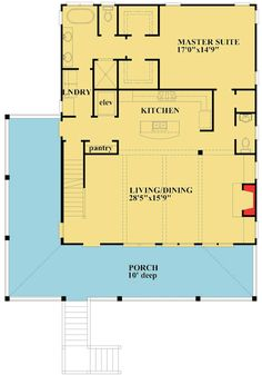 <ul><li>Raised up high to catch the cooling breezes, this Low Country home plan has a delightful wraparound porch for your outdoor enjoyment.</li><li>The ground level gives you parking plus a large mudroom with a residential elevator.</li><li>At the top of the stairs, you have views of the huge living and dining area with beamed ceilings, a fireplace and lots of glass.</li><li>The kitchen faces the main living area so you can alwa...