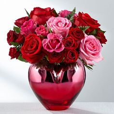 Find the best value on Valentine's Day flowers this season. From Valentine's roses to lily bouquets, send the best Valentine's Day flower delivery. Romantic Flowers, All Flowers, Pretty Flowers, Send Flowers, Funeral Bouquet, Red And Pink Roses, Rose Of Sharon, Same Day Flower Delivery, Flowers Delivered