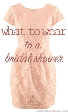 discussion what should wear bridal shower