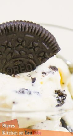 Home Made Oreo Cookies and Cream Ice Cream, you just cant beat it. My full video recipe here.  https://www.youtube.com/user/SteveOwensKitchen