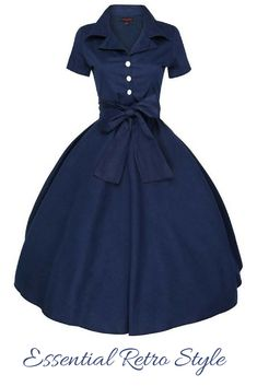 Oh beautiful dress I adore you. I love the shirt waiter style as the collar frames my face and the bow and the big skirt are so stylish. #1950sstyle #retrofashion #chiceveryday #mystyle #ad #wonderfulwednesday
