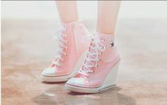 06d277976554 How to wear converse wedges high heels Ideas