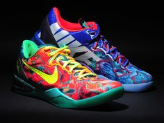 """Is it just us or does the """"What the Kobe"""" Nike Kobe 8 sport some sections that we've not yet seen in this silhouette? Kobe Bryant Shoes, Kobe Shoes, Basketball Sneakers, Sneakers Nike, Nike Basketball, Sneakers Fashion, Fashion Shoes, What The Kobe, Kevin Durant Shoes"""