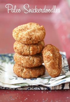 Paleo Snickerdoodles - using almond and coconut flours. My favorite! Must try. #food #paleo #grainfree #glutenfree #dairyfree #dessert #cookies #snickerdoodle