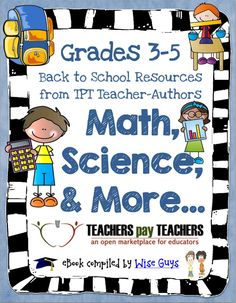 Back-to-School can be a little hectic sometimes. The TpT sellers joined forces and compiled an e-book with Back-to-School tips and tricks that you can use to make your life easier. PLUS, they also included links to some of their freebies!!!! Get it now! It's FREE!