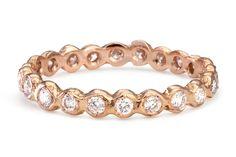 Satomi Kawakita Circle Eternity Band with White Diamond, $2,090, available at Satomi Kawakita.  33 Quirky Engagement Rings For Alt Brides #refinery29