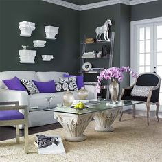 Purple Interior Paint Amazing Living Room Color Schemes Design Ideas Home Designs Bedroom