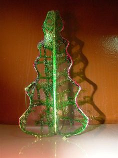 Christmas tree stained glass