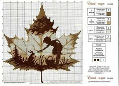 shadow leaf A series of images like this, with each one stitched in a different color, would be gorgeous.this one could be shades of orange, another reds or greens or yellows Fall Cross Stitch, Cross Stitch Fairy, Cross Stitch Boards, Cross Stitch Flowers, Cross Stitching, Cross Stitch Embroidery, Counted Cross Stitches, Cross Stitch Designs, Cross Stitch Patterns