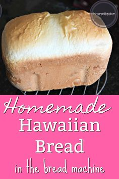 Need an easy bread machine loaf that not only lasts a week but also stays soft? This Super-Soft Bread Machine Hawaiian Bread will become a family favorite! Bread Machine Banana Bread, Bread Machine Mixes, Zojirushi Bread Machine, Easy Bread Machine Recipes, Best Bread Machine, Bread Maker Recipes, Bread Machines, Breadmaker Bread Recipes, Bread Machine Rolls