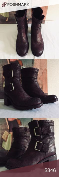 827a915796fcd FREE LANCE Woman s Leather Biker Boots NWOT Free Lance Womans Leather Biker  Boots Color  Diamente