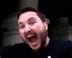 Wil Wheaton freaking out (gif) --Love this guy!!