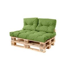 Shop Green Pallet Sofa Long Back 120 x Cushion Waterproof Euro Outdoor Garden. One of many items available from our Chair & Sofa Cushions department here at Fruugo! Pallet Sofa Tables, Pallet Furniture Cushions, Outdoor Sofa Cushions, Pallet Garden Furniture, Diy Pallet Sofa, Balcony Furniture, Pallet Bench, Diy Outdoor Furniture, Seat Cushions