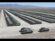US Military WORLDS LARGEST m1 Abrams Tank Graveyard - YouTube