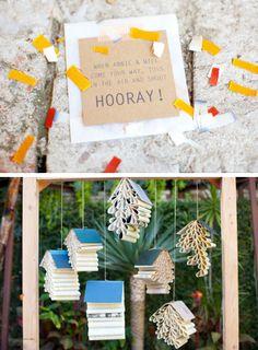 Cute idea for throwing confetti post ceremony.