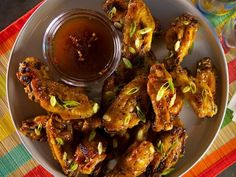 Get Kelsey Nixon's Honey Hoisin Glazed Wings Recipe from Cooking Channel