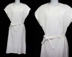 Hey, I found this really awesome Etsy listing at https://www.etsy.com/listing/234615762/vintage-80s-nancy-ii-white-belted-dress