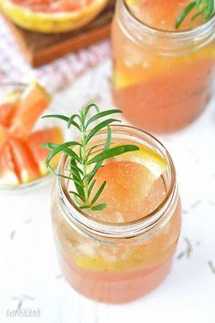 Rosemary Grapefruit Bourbon Smash! bethcakes.com