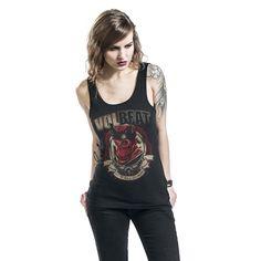 """Top donna nero """"King"""" dei #Volbeat."""