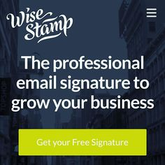 WiseStamp. Just discovered this great way to get a very professional signature on your emails that can have clickable links to all your social media pictures your last post from say YouTube or Facebook a short video of you talking. Check out my YouTube video showing you what it looks like. https://youtu.be/h4iMSYq9s7w