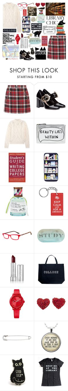 """""""Meet Me At the Library!"""" by curekitty ❤ liked on Polyvore featuring rag & bone, Miu Miu, Acne Studios, Accessorize, Kate Spade, Library of Flowers, Safilo, Jayson Home, Zelens and Los Angeles Pop Art"""