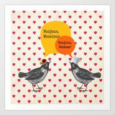 Bonjour! Art Print by Sreetama Ray - $17.68