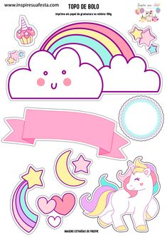 Unicorn Themed Birthday Party, Unicorn Party, Birthday Party Decorations, Unicorn Printables, Poster S, Lol Dolls, Cute Stickers, Little Pony, Planner Stickers