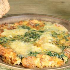 Omelette au bleu d'auvergne et cerneaux de noix