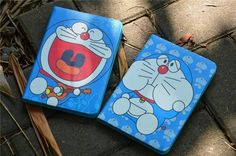 Doraemon Cartoon Leder Flip Schutz Case für ipad 2/3/4, ipad mini 1/2/3, ipad…