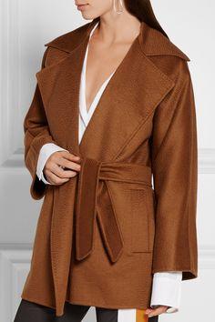 MaxMara - Rust colour, wool wrap coat.