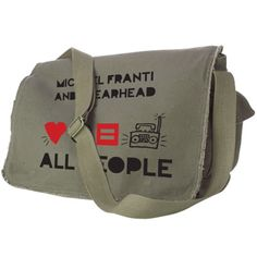 All i want for xmas...Equality Messenger Bag -Michael Franti: Speargear Shop