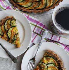Green and Yellow Zucchini Tart