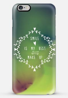 Smile is my best make up iPhone 6 Plus case by lescapricesdefilles | Casetify