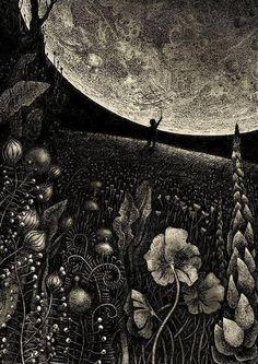 ♥Happy Big Summer Moon♥ Artwork Magdalena Korzeniewska via The Spirit that Moves Me