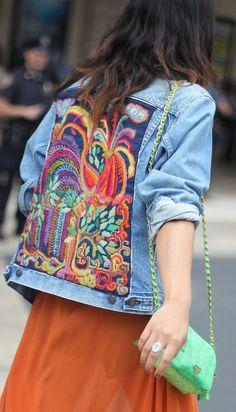 Embroidered Denim Jacket #Fashionistas