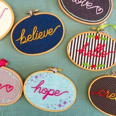 These were a craft show fave on Saturday. Still a few up for grabs in the shop!  #embroidery #wordsofwisdom #wordstoliveby #embroidered #needlework #believe #hello #fiberart #ourbestfinds #etsylove #etsydoesit #etsyforall #creativityfound #abmlifeiscolorful #abmcrafty #calledtobecreative #creative #creativity #colorful #colourful #color #colour #craftcastle #craftymama #handmadegifts #thehandmadeparade #handmadeisbetter #handmadeisbest #handmadewithlove #stitchersofinstagram