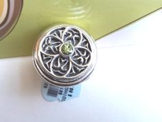 """Beautiful Brighton """"Gothica"""" Peridot Sterling Silver Ring - Size 7 NWT $88.00"""