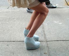 baby blue wedges