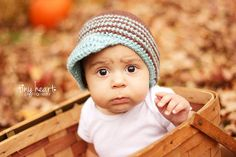 Childrens HatCrochet Newsboy Beanie in Grey by CUTEureCreations, $26.00