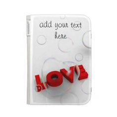 Customizable Kindle case with soap bubbles and Love word ~ $54.95