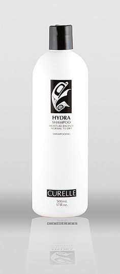 Curelle Hydra Shampoo Moisture Balance (Normal to Dry hair) - Fragrance-free. Contains non-gmo ingredients, propylene glycol free, gluten-free, safe for coloured hair. #fragrancefree #unscented #scentfree #glutenfree